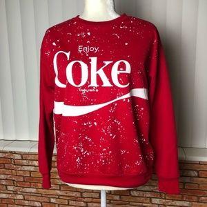 Red Enjoy Coca Cola Sweatshirt